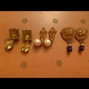 Gold Statement Earrings Lot